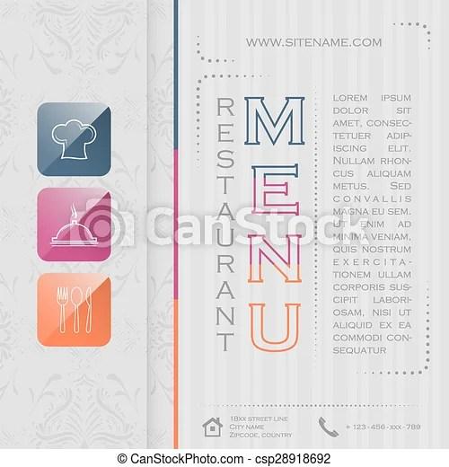 Elegant restaurant menu design, vector illustration 01 Elegant