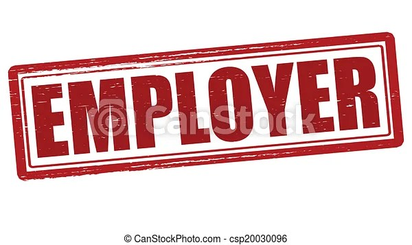 Stamp with word employer inside, vector illustration eps vectors