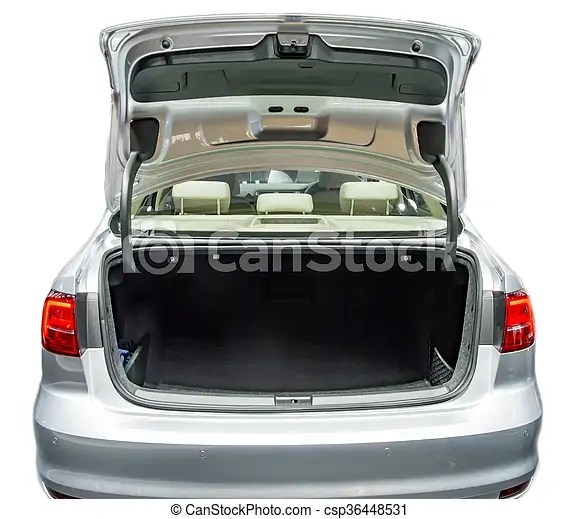Empty Car Boot Space And With Open State