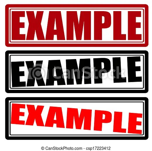 Example Illustrations and Clipart 9,453 Example royalty free - example of word