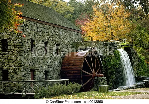 Fall Cape Cod Wallpaper Fall Mill Old Mill And Water Wheel In The New England Fall