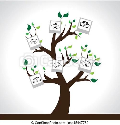 Family tree design over gray background vector illustration