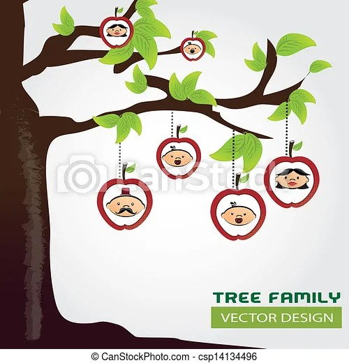 Family tree over gray background vector illustration eps vectors