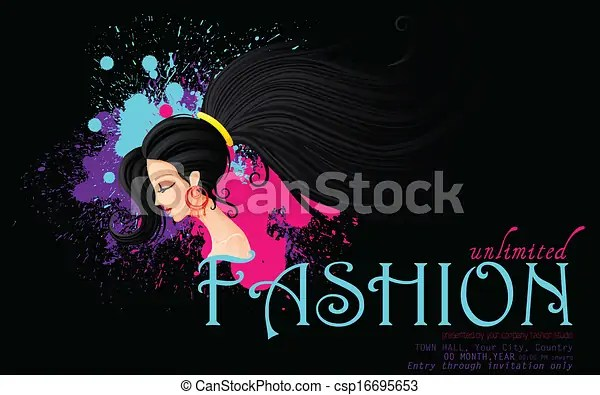 Easy to edit vector illustration of poster design for clipart - fashion poster design
