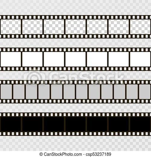 Film strip set collection of film for the camera cinema frame