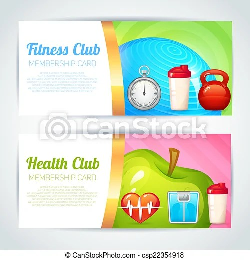 Fitness club card design Fitness health club membership vector - club card design