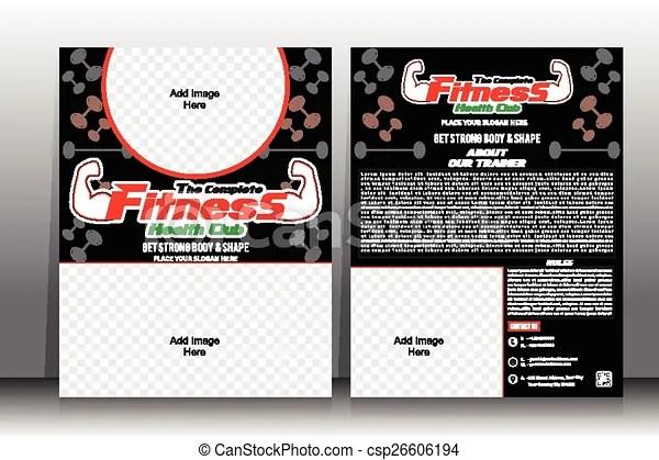 Fitness flyer  brochure template - Fitness Brochure
