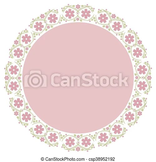 Floral frame for wedding invitations and birthday cards