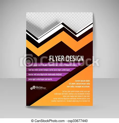 Flyer, magazine cover, brochure, template design for business