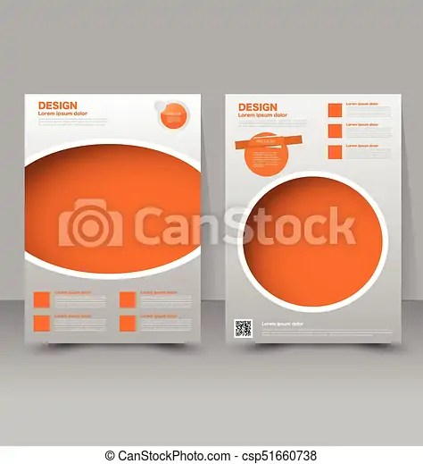 Flyer template business brochure editable a4 poster for vectors