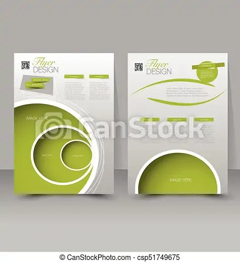 Flyer template business brochure editable a4 poster for design