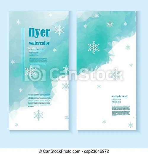 Flyer template with a winter background Abstract winter vectors - winter flyer template