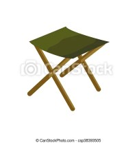 Folding chair icon, cartoon style. Folding chair icon in ...