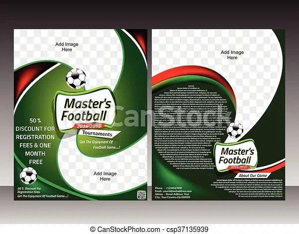 Football flyer template design template vector illustration
