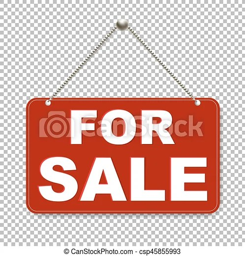 For sale sign with transparent background with gradient eps - forsale sign