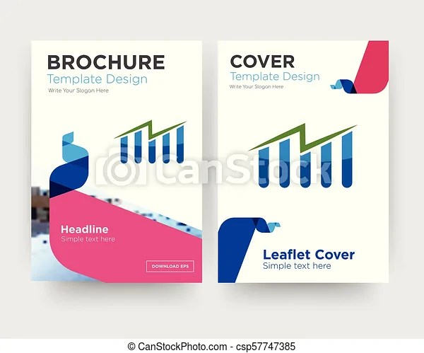 Free stock brochure flyer design template with abstract photo