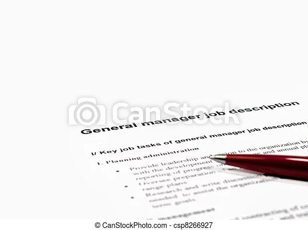 General manager job description Close up image of general manager
