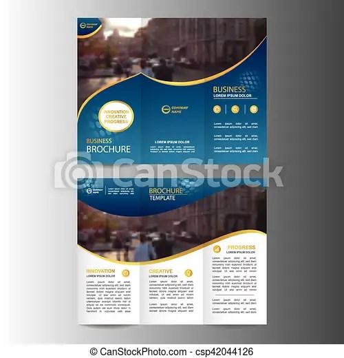 Geometric trifold business brochure template Geometric trifold - tri fold business brochure