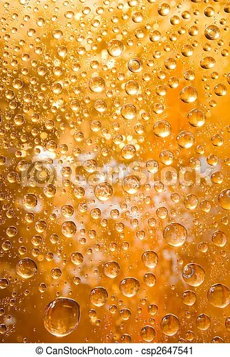 Golden water droplets background close up of water drops - water droplets background