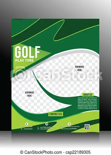 Golf flyer template vector illustation