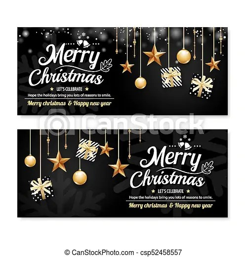 Greeting card merry christmas party poster banner design clipart - happy holidays and new year greetings