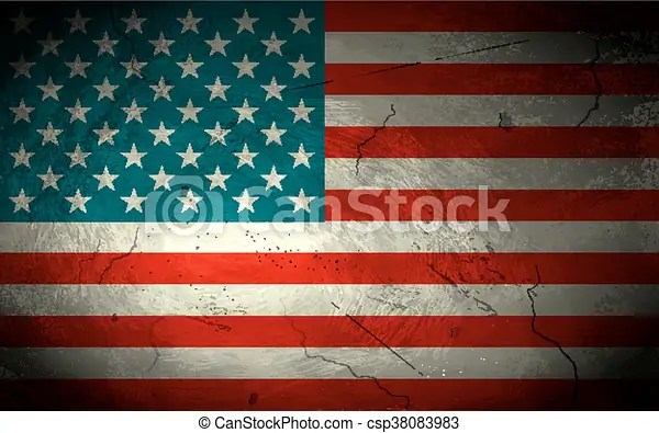 Illustration of grungy american flag background for fourth of july - America Flag Background