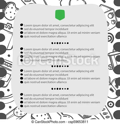 Hand drawn menu for cafe with lunch menu template design food