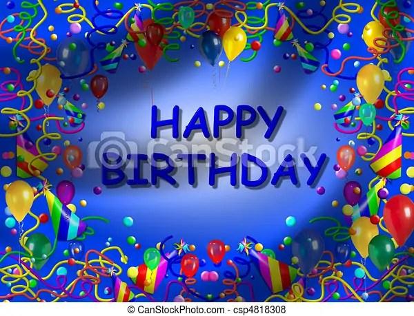 Happy birthday background stock illustration - Search EPS Clip Art - birthday backround