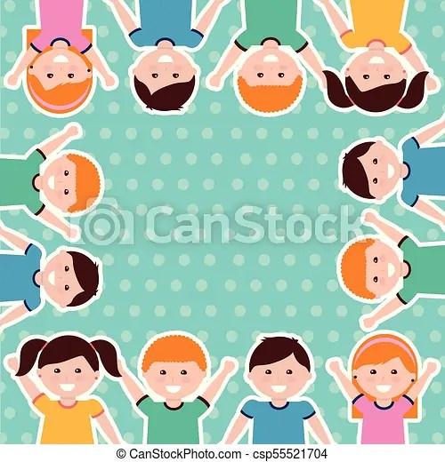 happy cartoon kids background
