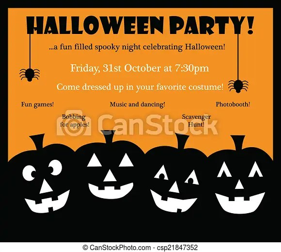 Happy halloween invite Happy halloween party invite invitation