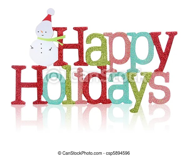 Happy holidays sign A colorful happy holidays sign with snowman - free images happy holidays
