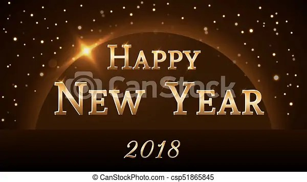 Happy new year background gold 2018 Happy new year background with
