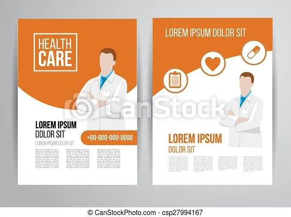 Healthcare brochure Vector health care brochure for clinic clip - healthcare brochure