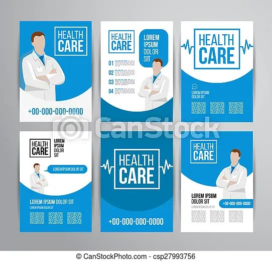 Healthcare brochure Vector health care brochure for clinic with