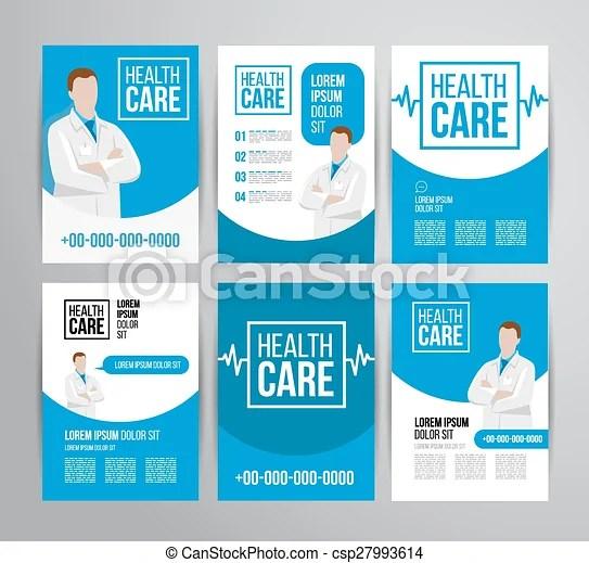 Healthcare brochure Vector health care brochure for clinic - healthcare brochure