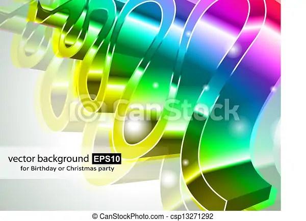 Modern high tech rainbow business card