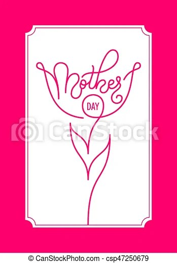 Holiday gift card with hand lettering mother\u0027s day template for a