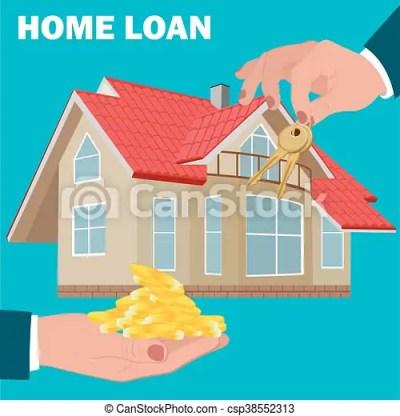 home loan concept, mortgage, flat design, vector... vector clip art - Search Illustration ...