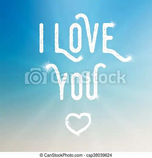 Vector i love you template on colorful background with sun template - small sun template