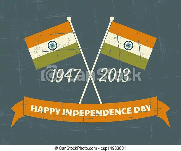 India independence day card Greeting card design for the vectors