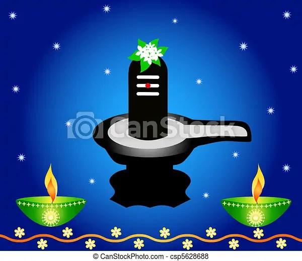 Lord Shiva Animated Wallpaper Indian God Shivalinga With Lamps