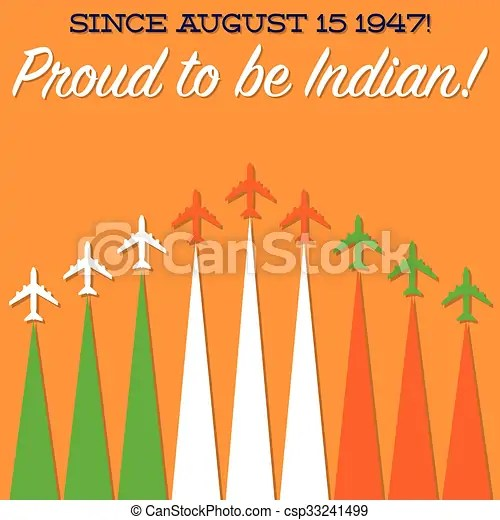 Indian independence day tricolor card in vector format