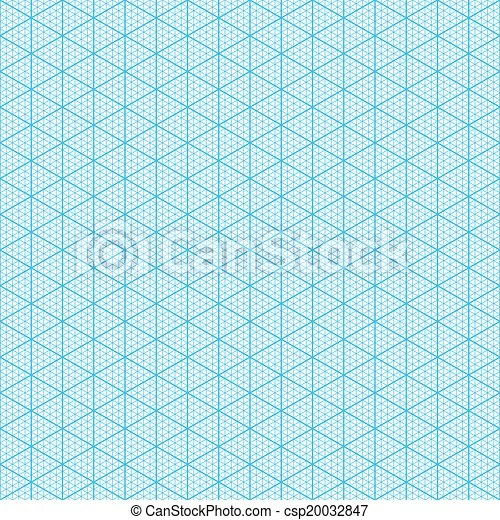 Isometric graph paper Seamless
