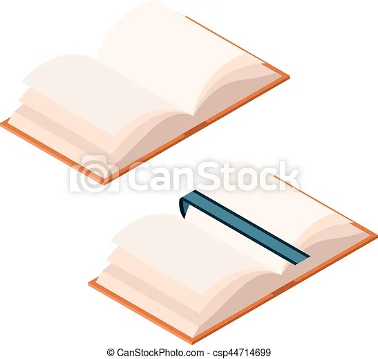 Vector image of the isometric opened book eps vectors - Search Clip - opened book