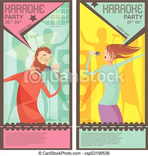 Karaoke party tickets Karaoke party ticket templates with singing