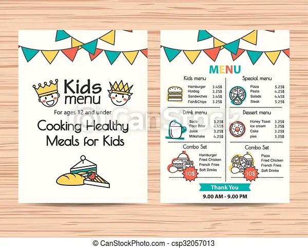 free kids menu templates - Josemulinohouse - kids menu templates