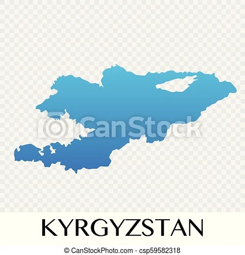 Kyrgyzstan map in asia continent illustration design