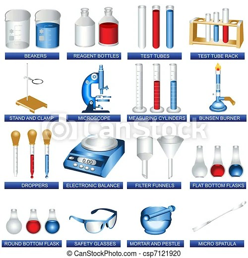 Laboratory tools A collection illustration of different laboratory