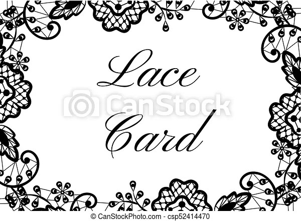 Cute Wallpaper Patterns Lace Border Card Template Of Card With Black Lace Border
