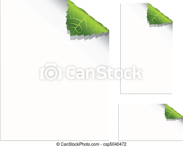 Leaf pages Curling leaf corners - pages and business cards with - Culring Pajis